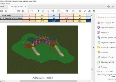 Creación de metodología integral a través del uso de BIM y simulación 4D para la optimización del ciclo de montaje de parques infantiles e instalaciones deportivas.