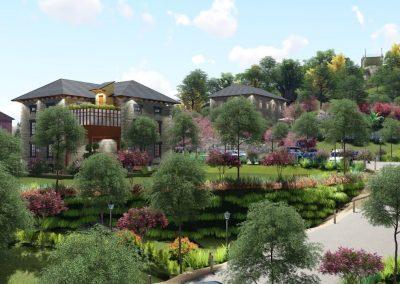 Complejo residencial para mayores de lujo en la finca del Dr. Madrazo. Vega de Pas
