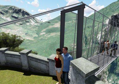 Proyecto de ejecución de puente tibetano en Peñarrubia. Cantabria