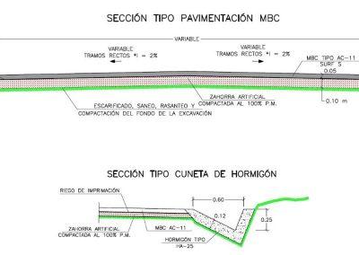 Proyecto mejora de trazado y firmes de carreteras en Villasevil