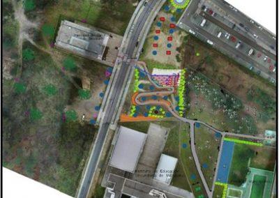 Acondicionamiento de zonas verdes en O´Milladoiro, Concello de Ames. La Coruña